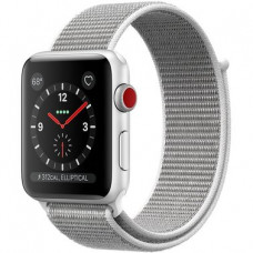 Apple Watch Series 3 GPS + LTE MQJR2 38mm Silver Aluminum with SEASHELL Sport Loop