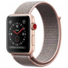 Apple Watch Series 3 GPS + LTE MQJU2 38mm Gold Aluminum Case with Pink Sand Sport Loop