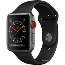 Apple Watch Series 3 GPS + LTE MQKG2 38mm Space Gray Aluminum Case with Gray Sport Band