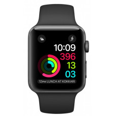 Apple Watch Sport Series 2 38mm Space Gray Aluminum Case with Black Sport Band (MP0D2)