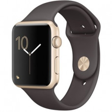 Apple Watch Sport Series 2 42mm Gold Aluminium Case with Cocoa Sport Band (MNPN2)