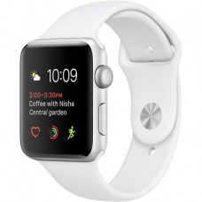 Apple Watch Sport Series 2 42mm Silver Aluminum Case with White Sport Band (MNPJ2)