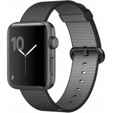 Apple Watch Sport Series 2 42mm Space Gray Aluminum Case with Black Woven Nylon Band (MP072)