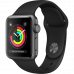 Apple Watch Series 3 42mm GPS Space Gray Aluminum Case with Black Sport Band MQL12