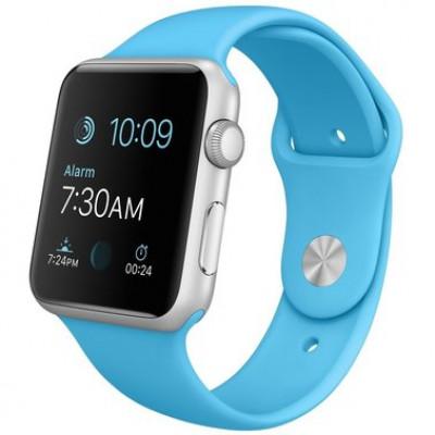 Apple Watch Sport 42mm Silver Aluminium Case  Blue Sport Band (MLC52)