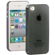 Ультратонкий прозрачный чехол для Iphone 4, 4s 0.3 мм с черным оттенком