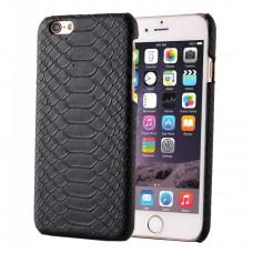 Кожаный Чехол Snakeskin Texture Black для iPhone 6, 6s