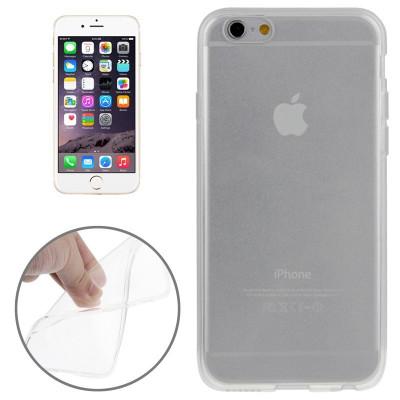 Ультратонкий Прозрачный TPU Чехол Черный для iPhone 6, 6S