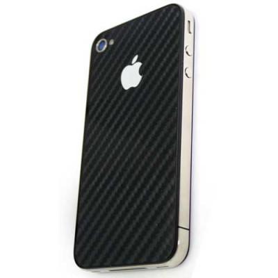 Карбоновая наклейка Carbone Cover для iPhone 4, 4S